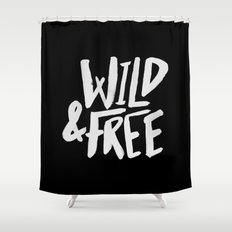 Wild and Free II Shower Curtain