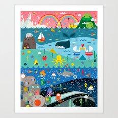 Underwater Cosmos Art Print