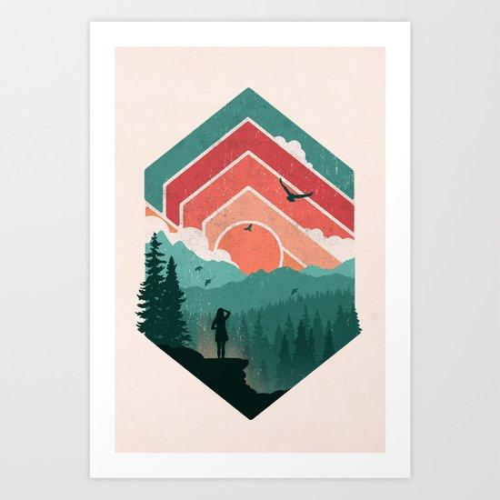 Divided Sky Art Print