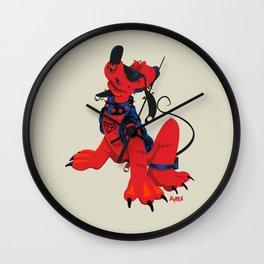 Pluto crever Wall Clock