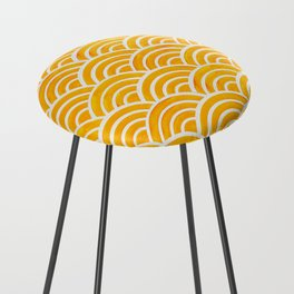 Japanese Seigaiha Wave – Marigold Palette Counter Stool