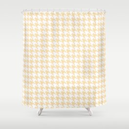 Tan Classic houndstooth pattern Shower Curtain