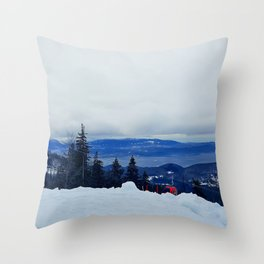 ski resort Throw Pillow