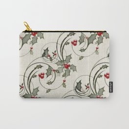 Holly Holiday Vintag Carry-All Pouch