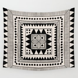 Black & White Symmetrical Pattern #1 Wall Tapestry