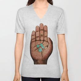 Numb the Pain with the Money Unisex V-Neck