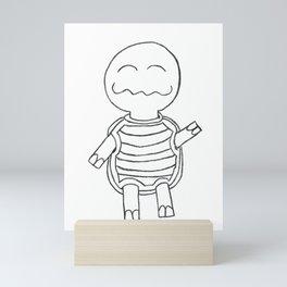 Strange Happy the Turtle Mini Art Print