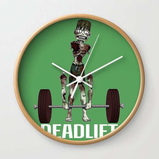 Crossfit Zombie by RonkyTonk doing Deadlift Wall Clock
