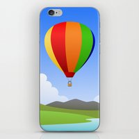 hot air balloons iPhone & iPod Skins featuring Hot Air Balloons by Henry Meadowlark