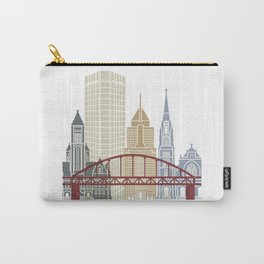 Pittsburgh V2 skyline poster Carry-All Pouch