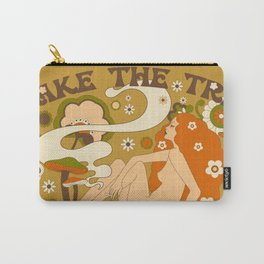 Take The Trip Orange Carry-All Pouch