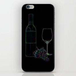 Neon Wine iPhone Skin