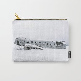 Plane Wreck in Iceland in Winter - Landscape Photography Minimalism Carry-All Pouch