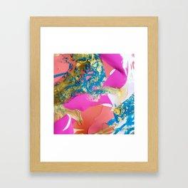 Unicorn Marble Framed Art Print