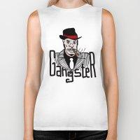 gangster Biker Tanks featuring Gangster by Logan_J
