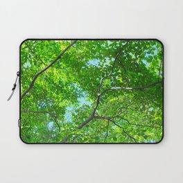 Canopy of Green, Leafy Branches with Blue Sky Laptop Sleeve