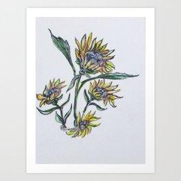 Sunflower Crazy Art Print