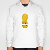 cracked Hoodies featuring cracked peanut  by jerbing