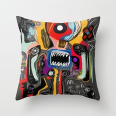 Are we really here ? Street Art Graffiti Throw Pillow