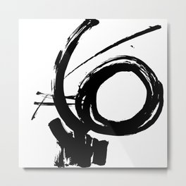 Brushstrokes No.9 by Kathy Morton Stanion Metal Print