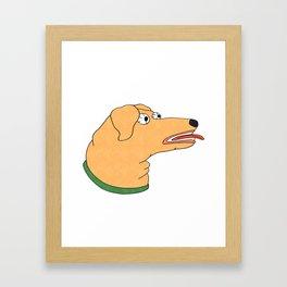 Sketchy Dog Head Framed Art Print