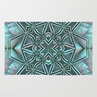 snowflake Area & Throw Rugs featuring Snowflake by Lyle Hatch