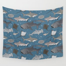 Sharks and Rays Wall Tapestry