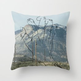Grasping for That Feeling Throw Pillow