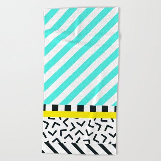 Memphis pattern 82 Beach Towel