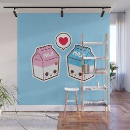 Milks in love Wall Mural
