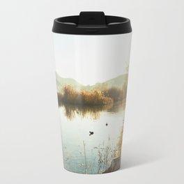 Autumn Lake Tranquility Travel Mug