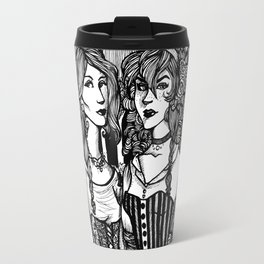 Snow White and Rose Red Travel Mug