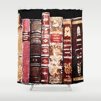 books Shower Curtains featuring Books by Regan's World