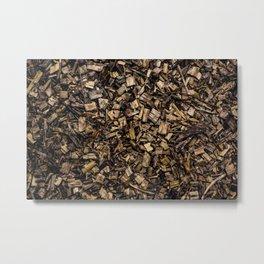 Wood Chips Metal Print