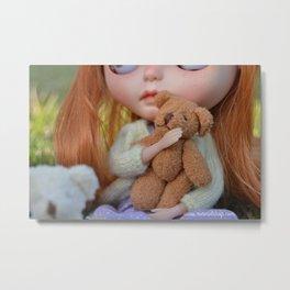 Robin - This is my teddy Metal Print