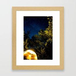 Camping Butterflies  Framed Art Print