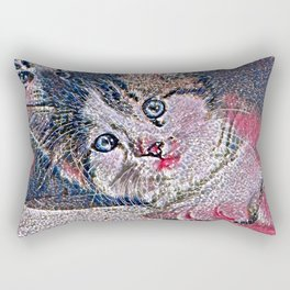 GlitzyAnimal_Cat_001_by_JAMColors Rectangular Pillow