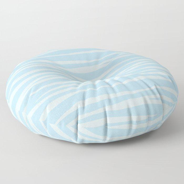 Zebra Print - Wavy Blue Floor Pillow