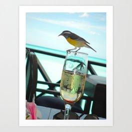 Cheers Birdie Art Print