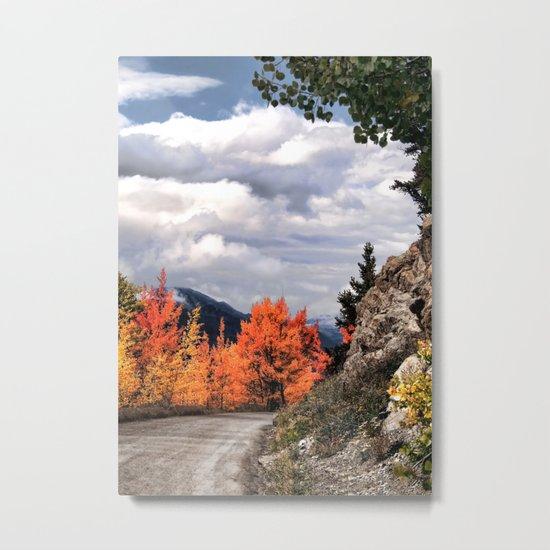 Autumn Mountain Road Metal Print