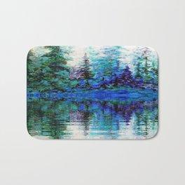 BLUE MOUNTAIN TREES & LAKE REFLECTION Bath Mat