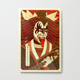 Kabuki Kiss Metal Print