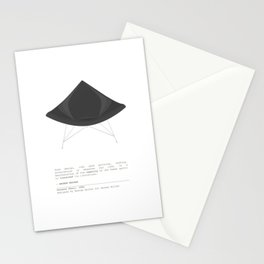 George Nelson Coconut Chair Stationery Cards