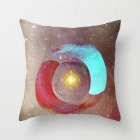 compass Throw Pillows featuring Compass by Iris Lehnhardt