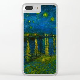 Starry Night Over the Rhône 1888 oil on canvas by Vincent van Gogh Clear iPhone Case