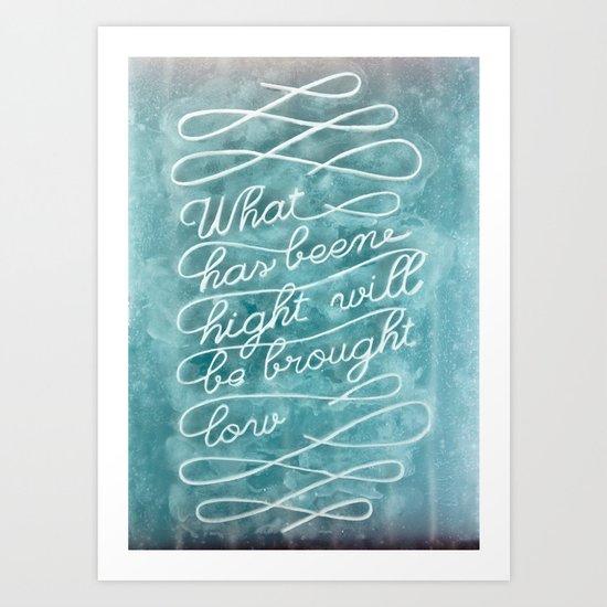 Ephemera wax 1 Art Print