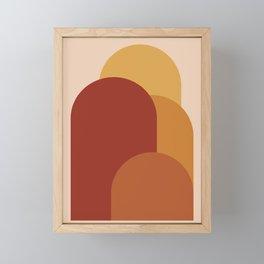 Minimal Arches IX Framed Mini Art Print