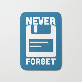 Never Forget Floppy Disk Bath Mat