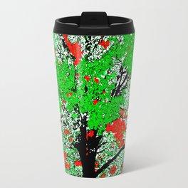 TREE RED AND GREEN LEAF Travel Mug