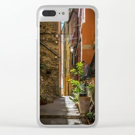 Narrow streets of Manarola Clear iPhone Case